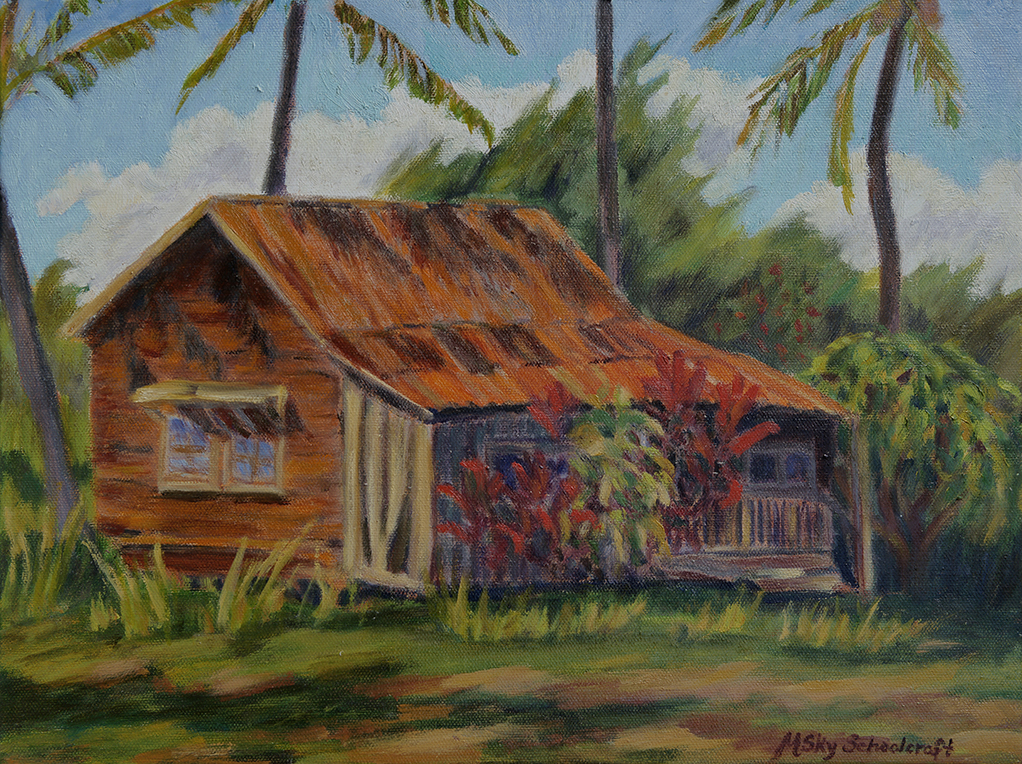 "Cowboy Shack on Ho'ea Road  11"" x 14"""