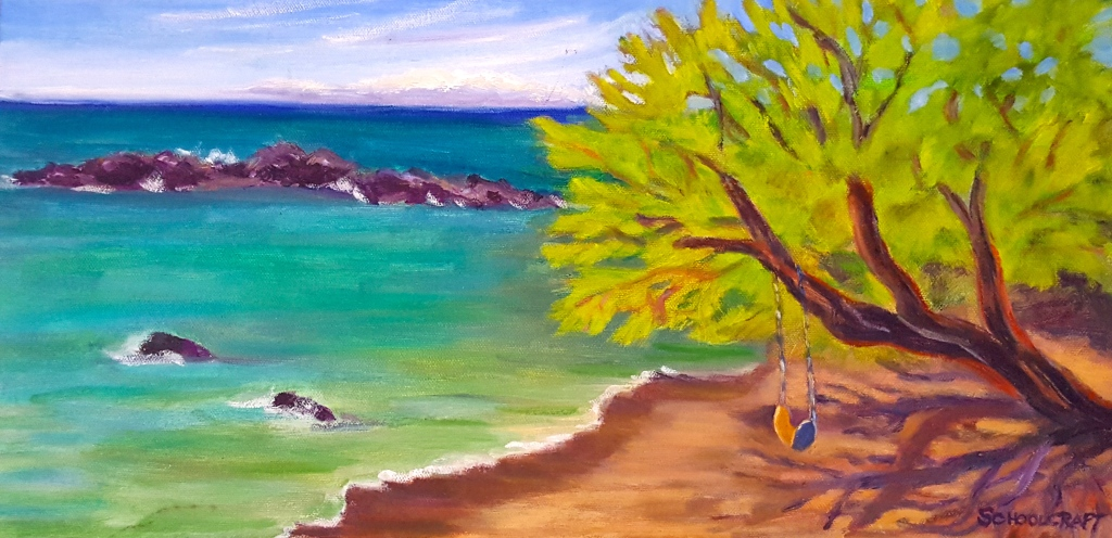 "Swing at Secret Cove 12"" x 24"""